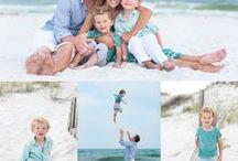 Fotos da praia em família