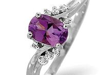 Amethyst Jewellery - February's Birthstone / A collection of our best selling amethyst jewellery from TheDiamondStore.co.uk.  Stunning Amethyts set into white and yellow gold, all UK hallmarked.