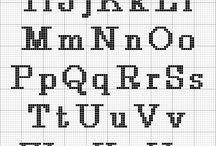 Alfabe kanavice sablonlari / alphabet cross stitch crafts