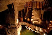 Wieliczka Salt Mine / The only salt mine in the world preserved in such pristine condition and placed on the original UNESCO list of the World Heritage Sites !  135 meters underground! Visited by more than 1 million tourists a year!
