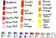 colour theory charts and swabs