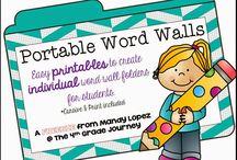 Word wall- third grade
