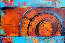 Art | Colorful Clocks / Wall art featuring clocks by Imagekind artists.