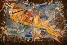 art in school / experiment art Journaling in School (Ariosto Orlando furioso)
