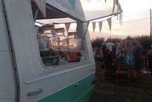 Pixie The Vintage Caravan - fully licensed mobile bar & popup tea room / We are able to bring a fully licensed bar to your celebration or event and can either serve from inside your chosen venue, or from our fabulous converted vintage caravan, 'Pixie'.   Pixie is a real head turner, and is a stunning feature at any event.  From fields to fancy houses, we are delighted to serve at weddings, birthdays, anniversaries, and corporate events.  We also attend shows, charity events, and festivals.