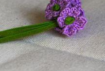 Blumenmuster stricken & häkeln