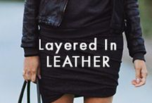 Layered In Leather / Everyone looks good in a little leather.  / by Elie Tahari