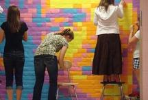 Post it note murals