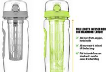 New InfuseFruit 32 oz with a Full-length Rod in Lime Green / This board shows an improved version of the InfuseFruit bottles that you've  all loved. With a longer infuser rod, you can now add more fruits and herbs inside! You no longer have to tilt the bottle because your water gets infused to the last drop!