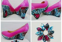 Ankara Shoes / Ankara or African print (Kente, ankara) inspired shoes I would like to share. They are fun, colorful and creative