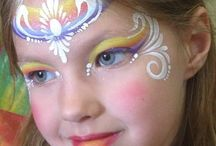 face paint one stroke rainbow designs