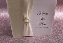 Wedding Stationery / All our wedding stationery are hand made to perfection  we take pride in what we do.  You can make an appointment with one of our designers and we will help you come up with the perfect wedding invitation for you.