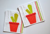 Quilted Table Runners, Placemats, Coasters / Quilted Table Runners, Quilted Place Mats / by Twiggy & Opal