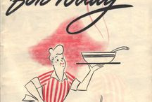 Antique food posters