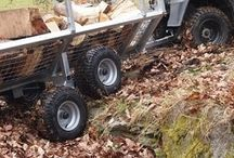 ATV timber trailer, woodland trailer, walking beam axle trailer / The ATV timber trailer for woodland owners, tree surgeons is great for handling logs, trees, coppice wood. The Quad bike all terrain trailer is the answer. For more info: http://www.fresh-group.com/atv-timber-trailer.html