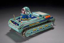 Space Tank Tin Toys