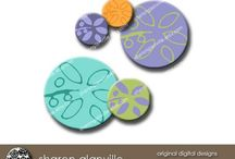 Digital Downloads | Sharon Glanville / Use for cards, tags, scrapbooks, mixed media and jewelry!