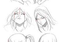 posiciones de rostro