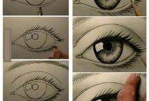 Zeichnen, Augen