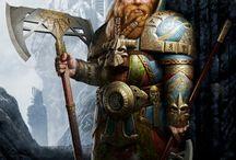 Epic battle characters
