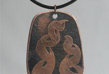 Měděné šperky - Coppeer jewelry / Měděné šperky - Coppeer jewelry, jewellery, earring, bracelet, necklace