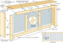 Verwarming en vensterbank