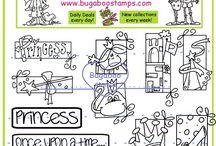 Digi Stamp SETS and inspiration