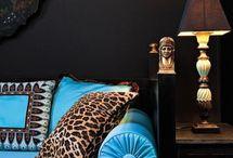 Leopard print pillows