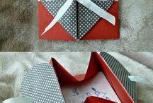 folded cards and like