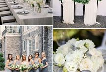 Dove Grey, Grey, Slate & Charcoal Wedding Inspiration / Ideas and inspiartion for grey themed weddings including bridesmaids dresses, table docorations, flowers, cakes, invitations and everything else wedding.