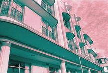 My Photography - South Beach Tropical Art Deco / Fine art. The romanticism of the South Beach area of Miami Beach - known as America's Riviera - originally captured on black & white film in the 1980s and 1990s, then selectively toned and tinted digitally.