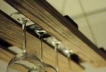 Pallet bar & thumbler rack