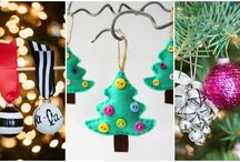 DIY Christmas Ornament Ideas / Homemade ornaments for Christmas that will get your house ready for the holiday. These DIY ideas have something for everyone to create the perfect handmade holiday.
