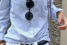 Shorts and collared shirt