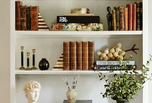 BOOKCASE // STYLING / Learn how to style and shelf or bookcases to tackle and home decor problem areas!
