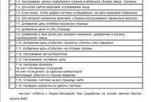 Чек-лист «Работа с Яндекс.Метрикой» / Чек-лист «Работа с Яндекс.Метрикой» был разработан на основе занятия Мастер-группы IMBV. Мастер-группа IMBV - это 4 онлайн-занятия в месяц и доступ к базе знаний из 48 видео прошедших занятий, 40 чек-листам и 40 интеллект-картам по интернет-маркетингу и SEO. Присоединяйтесь к Мастер-группе IMBV и со скидкой 500 руб. по промокоду LIST. ->> http://imbv.ru/mg/ Полный вариант чек-листа «Работа с Яндекс.Метрикой» вы найдете на сервисе SEO CRM - services.seocrm.net