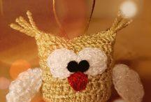 Háčkovaná sovička - vánoční