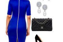 Pencil Dress Coco Royal Blue / Deze vuurrode jurk is een subliem voorbeeld van een klassieker met pit! De elegante uitstraling en rits aan de achterkant maken deze jurk onweerstaanbaar.