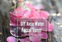 rose toner recipe-rose water+hamamelis water