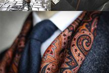 Patterned Silk Scarves for Men / Silk Scarves are becoming a mainstay in Menswear Fashion. Here are some of our favorite looks / by Bows-N-Ties | Inspiration for Men's Ties, Bow Ties, & Neckties