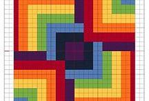 Вышивка геометрия