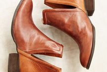 Booties / leather short boots, booties, shoes