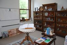 Mankato, Minnesota: Heritage Room / The heritage room located at Our Lady of Good Counsel has known several homes. In the mid-1980s, the display moved to the room currently housing the Mankato campus archives office, and following a building renovation in 2002-2003, the heritage room was housed in its current location, next to the archives office.