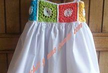 crochet + kumaş elbise