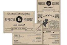 Trouwkaarten - Retro/Vintage / Voorbeelden en inspiratie voor trouwkaarten in retro en hipster stijl. Binnenkort op Drukwerkdeal.nl