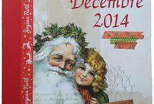 """Kit de scrap et mini-album """"décembre jour après jour"""" / Créations réalisées avec le kit de décembre et mini-album de l'avent - Décembre jour après jour"""