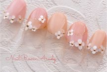 Flowers and fruits on Nails / Nail art inspirations full of delicate flowers. Inspirations nails art fleuris.
