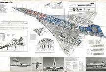 Aircraft - Cutaway & 3-View Drawings