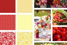 Inspiration behind the Quilted Living Book / Pictures and collages that portray the inspiration behind the colors and prints of the Summer Cottage fabric collection and the quilt designs found throughout the pages of the Quilted Living book.