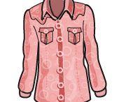 ш_Блуза_Western / Похожа на блузу Оксфорд, но отделана широкой кокеткой (деталь рубашки, которая вшивается в линию плеча).